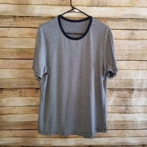 Lululemon Navy White Striped Crewneck Tee Medium
